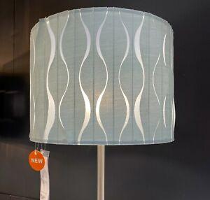 "Ikea LÖKNÄS LOKNAS Lamp Shade Floor/Pendant/Table, Blue/Silver 13"" - NEW"