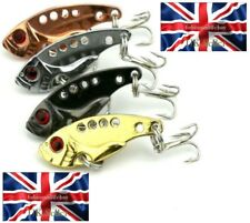 A SET OF 4 METAL VENTED 3.5g 35mm BUZZ BAIT LURES BASS PIKE FISHING