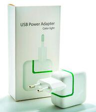 USB Netzteil Adapter 2.1A 10W Ladegerät Netzstecker iPad iPhone Universal Weiß