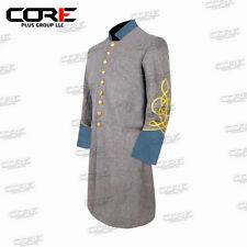Us Civil War Confederate Captain's 2 Row Braid Single Breast Infantry Frock Coat