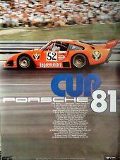 Poster Reprint, Bob Wollek, Kremer Porsche 935 Jägermeister, Porsche Cup 1981