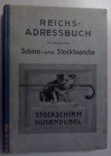 Reichs- Adressbuch für die gesamte Schirm u.Stockbranche 1929 /Werbung 1.Ausgabe