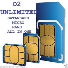 OFFICIAL O2 PAY AS YOU GO 02 SIM CARD STANDARD/MICRO/NANO LATEST PACKAGE