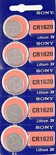 CR 1620 SONY LITHIUM BATTERIES (5 piece) 3V Watch New Authorized Seller EXP 2025