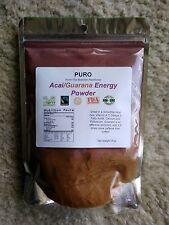 ACAI and GUARANA POWERFUL ENERGY BLAST Fruit POWDER! 8 OZ PURO POWER ANTIOXIDANT