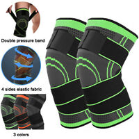 Knee Brace Support Compression Sleeve Hinged Sport Joint Arthritis Pain Relief