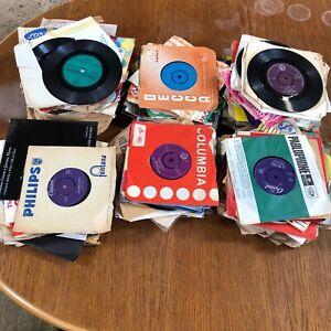 "Job Lot of 20x Mixed Singles 7"" Vinyl Records Lp's Hundreds in Stock"