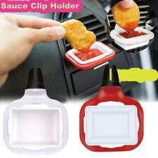 2pcs Saucemoto Dip Clip An in-car Sauce Holder For Ketchup & Dipping Sauces