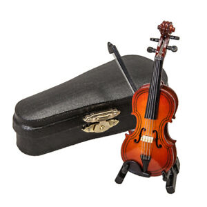 Sky Mini Violin Classic Natural Finish Acoustic Miniature Violin with Stand Bow