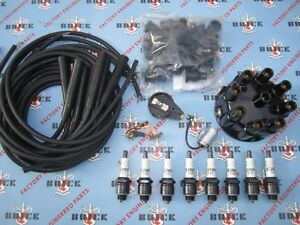 1953 1954 1955 1956 Buick V-8 Ignition Tune-Up Kit w/ Wires & Delco Spark Plugs