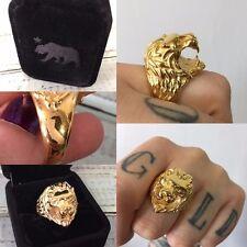 Vintage 18k Gold Lion Cigarette Holder Ring