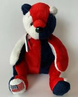 Ty Beanie Babies Patriot Bear Beanbag Plush Toy Red White Blue Flag Patriotic