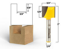 """3/4"""" Diameter Bottom Cleaning Router Bit - 1/4"""" Shank - Yonico 14971q"""