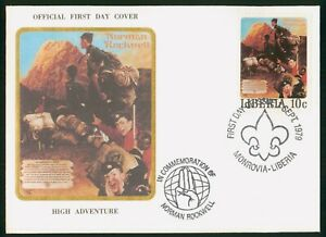 Mayfairstamps Liberia FDC 1979 Norman Rockwell Boy Scouts Paitning First Day Cov