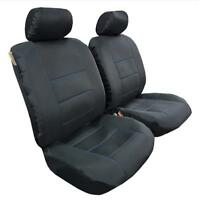 New Arrival 2pcs Black Outback Canvas Front Car Seat Cover Universal Size