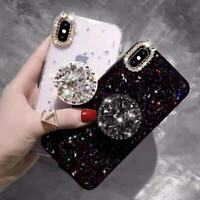Glitter Bling Diamond Ring Holder Stand Case Cover For iPhone 6S 7 8 X XS Max XR