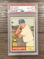 1961 Topps Ron Santo Rookie PSA 8.5 All Star RC #35 NM - MT+