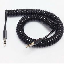 3FT Spring Coiled 3.5mm Stereo Jack Spiral Spring Audio Cable Wire Lead  /BX