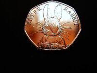 PETER RABBIT 2016 HALF WHISKER 50p COIN (BEATRIX POTTER) 50 pence plus Wallet