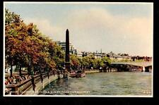 vintage Dixon Cleopatra's Needle & Victoria Bank London Uk photgravure postcard