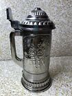 Lidded Vintage Beer Stein NOVA Avon Overlay Glass with Lid German Man/Woman