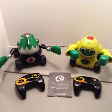 Rumble Robots Remote Control Me Fisto And Lobjaw With Controls No Cards Htf
