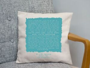 Michael Buble 'Everything' Personalised Song Cushion 2nd Cotton Anniversary Gift