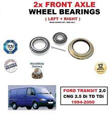para Ford Transit 2.0 GNC 2.5 DI TD TDI 1994-2000 Eje delantero RODAMIENTOS Set