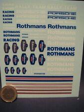 DECALS 1/43 LOGOS ROTHMANS RACING RALLY TEAM AVEC FILETS - T296