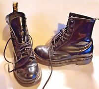 DR Martens. Womens 1460 Patent Leather 8 Hole Airwair Boots UK Size 5. Black.