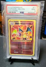Charizard 11/108 PSA 9 Rare Rev Holo Pokemon XY Evolutions |NO RESERVE AUCTION|