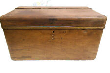 Antique Wooden Box, Early Car / Charabanc Boot Trunk or Tool Box?
