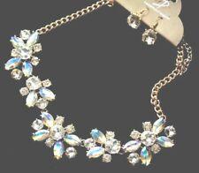 Bling Rhinestone Crystal Statement Fashion Necklace 3D Jewelry Choker Collar