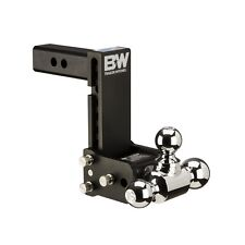 "B&W Tow & Stow Trailer Hitch Tri Ball Mount - 7"" Drop/7-1/2"" Rise TS10049B"