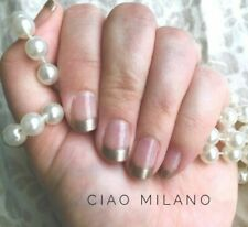 Color Street CIAO MILANO (French Manicure Champagne Gold Tips Fall Holiday)