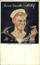 Chesterfield Cigarettes Handsome Sailor - Leyendecker? c1918 Postcard