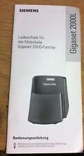Manuale d'uso Gigaset 2000l supporto di ricarica F. 2000c+2000s