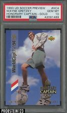 1993 UD Soccer Preview Honorary Captain Gold Wayne Gretzky HOF PSA 10