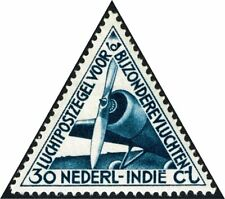 Netherlands Scott # C10 Mint Never hinged 1933 Airplane - Triangle Stamp