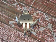 Unique Silver Plated Silverware/Flatware Fork Octopus Necklace #N81