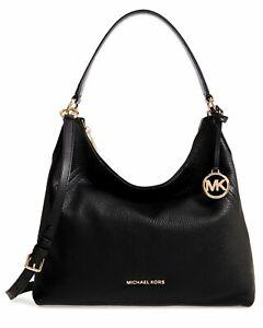 Michael Kors Bag Aria LG Shoulder Hobo Bag Black New 30T9GXAL3L