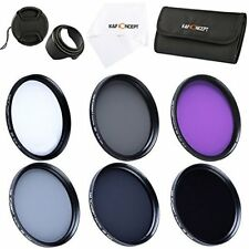 K&F Concept 62mm UV CPL FLD ND2 ND4 ND8 Filter Kit Lens Hood Cap for Canon Nikon