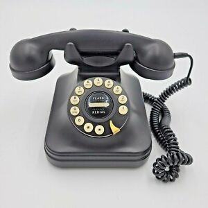 Pottery Barn PB Grand Phone Telephone Black Desk Old Fashion Vintage Retro Style