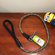 KONG Padded Handle Rope Dog Leash Olive Green 4 Ft.