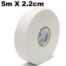 Rotolo biadesivo 5m nastro adesivo 5 metri schiuma striscia doppio lato BIANCO