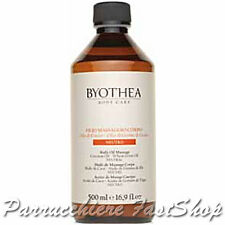 Neutral Body Oil Massage Byothea ® 500ml Oli di Cocco e germe di grano Massaggio