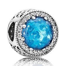 Pandora Originals Argento 925 Charm Gioiello Azzurro Glaciale 791725nbs