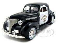 1939 CHEVROLET COUPE CHP CALIFORNIA HIGHWAY PATROL 1:24 CAR BY MOTORMAX 76453