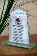 Pet Memorial Rainbow Bridge Poem Pet Loss Glass Plaque - Handmade in UK