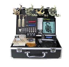 Full Tattoo Equipment Tatoo kits 4 machine lcd power supply more stuff set